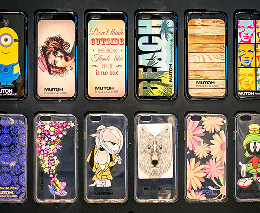Mutoh XPJ sample phone covers